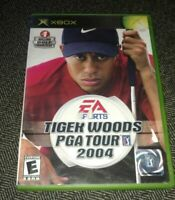 TIGER WOODS PGA TOUR 2004 - XBOX - COMPLETE WITH MANUAL - FREE S/H - (TT)