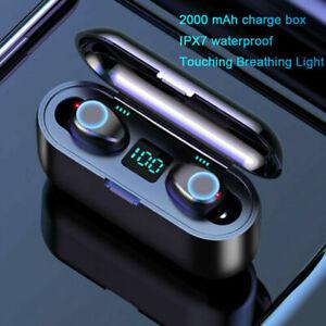 TWS F9 Wireless Bluetooth Sport Earbuds Mini Stereo Headset Headphone Earphones