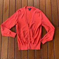 Gant Size M Pink Apricot Cardigan Button Down Casual 100% Cotton Business Casual