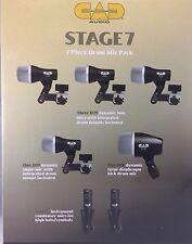 CAD - DA PALCO 7 - Batteria Confezione rullante, percussione, 3 x Tom, 2x intera