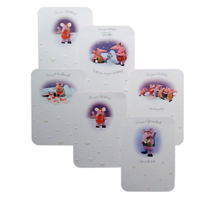 THE CLANGERS White Birthday Cards 17 & 23 x 12cm Granny Mother Small Major Tiny
