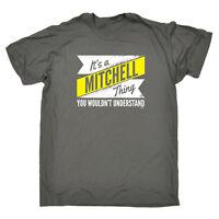 Funny Novelty T-Shirt Mens tee TShirt - Mitchell V2 Surname Thing