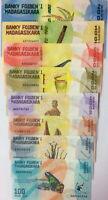 MADAGASCAR SET 8 UNC 100 200 500 1000 2000 5000 10000 20000 ARIARY 2017 P 97-104