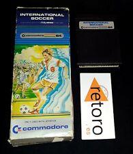 INTERNATIONAL SOCCER COMMODORE 64 C64 CBM64 CARTUCHO Y CAJA ENVIO COMBINADO OK