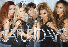 THE SATURDAYS - CHART TOPPING BAND - FULLY SIGNED COLOUR MAGAZINE PHOTOGRAPH