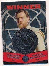 Chrome Perspectives Jedi Sith SIlver Medallion Winner Anakin vs Obi-Wan 148/150