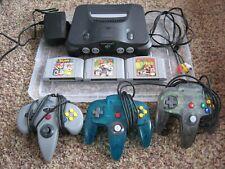 Nintendo N64 Bundle - 3 Controllers and 3 Games Super Smash Bros. Mario Kart 64
