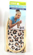 Leopard Print Terry Cloth Cosmetic Adjustable Head Wrap Conair