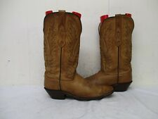 Old West Brown Leather Snip Toe Cowboy Boots Womens Size 7.5  Style LF1529