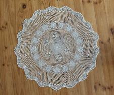 Cotton Hand Crochet Lace Doily Placemat Topper Tablecloth Round 85CM Beige C