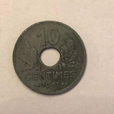 Pièce Ancienne - 10 Centimes Francs Etat 1941 - Ancient French 10 cents coin