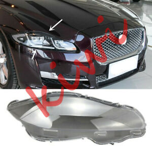 Right Side Transparent Headlight Cover + Glue Replace For Jaguar XJ 2010-2019 WY