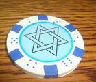 1 STAR OF DAVID image Dice design Poker Chip, Golf Ball Marker,Card Guard w