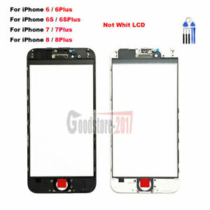 OEM For iPhone 8 7 6S 6 Plus Front Outer Screen Glass Lens w/ Frame  + Tools
