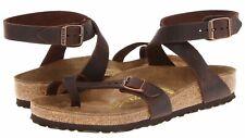NIB New BIRKENSTOCK Yara Sandals Ankle Strap Habana Brown Oiled Leather  9 / 40