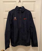 NWT Virginia UVA Cavaliers Football Team Issued Nike Full Zip Blue Jacket Small