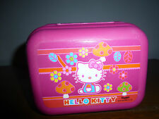 TUPPERWARE boite HELLO KITTY clipsable gouter jouet toilette FILLE ROSE ENFANT