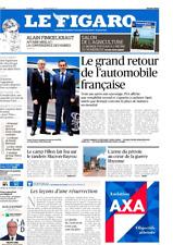 Le Figaro 24.2.2017 N°22564*MACRON-BAYROU*Retour AUTO française*AGRICULTURE*THEO