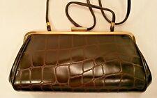 Vtg Cabrelli Canada Clutch Evening Shoulder Crossbody Bag Purse Handbag Brown