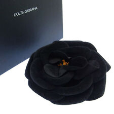 Woman Authentic Used G183 Dolce&Gabbana brooch corsage Black