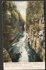 1905 post card Adirondack Au Sable Chasm Haverhill MA to Atkinson Depot NH