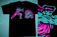 New Ryu Blanka Pink Aqua tshirt south beach lebron 8  Cajmear air 9 M L XL 2X 3X