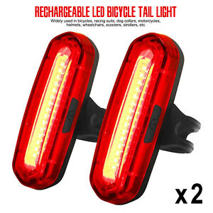 Bike Bicycle Front & Rear Lights 6 Modes USB Rechargeable LED Lights Waterproof