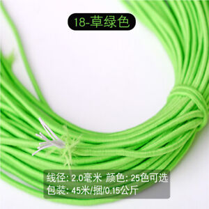 2mm 45M Round Elastic Rubber Band Mask Rope DIY Craft Sewing Accessories Jewelry