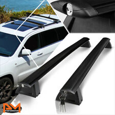 For 11-18 Jeep Grand Cherokee Aluminum OE Style Roof Rack Top Rail Crossbar+Lock