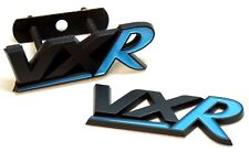 VAUXHALL VXR BADGE SET BLACK & BLUE REAR TAILGATE FRONT GRILL ARDEN NON CHROME