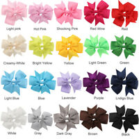40Pcs Girl Baby Kids Hair Bows Band Boutique Alligator Clip Grosgrain Ribbon