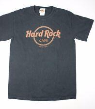 Hard Rock Cafe Denver T Shirt Size Small S Faux Leather Logo Black