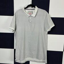 Clothing & Footwear Merchant White Pattern Polo T-shirt Size L