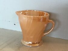 Vintage Fire King Peach Lustre   Milk jug , Made in usa