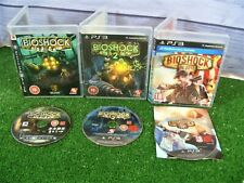 3 x PLAYSTATION 3 GAMES 'BIOSHOCK 1, 2 & INFINITE' GAMES **DISCS EXCELLENT **PS3