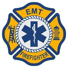 """EMT Firefighter 3"""" Die Cut Maltese Cross Star of Life Reflective Emergency Decal"""