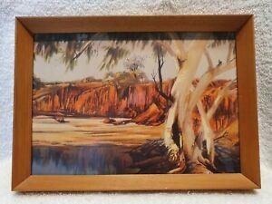 Original vintage Albert Namatjira framed print behind glass.