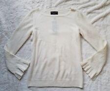 Banana Republic Filpucci Wool Cashmere Bell Sleeve Sweater Ivory sz M NWT