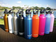 Topoko 25 oz Stainless Steel Vacuum Insulated Water Bottle with metal lid