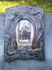 Ancien cadre porte photos en régule à décor de dragons Indochine Vietnam Chine.