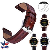 Quick Release Genuine Leathe Strap For Fossil Q Gen 4 Venture HR Smartwatch Band