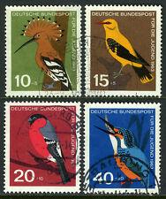 Germany B388-B391, Used. Birds.Hoopoe, Golden oriole, Bullfinch, Kingfisher,1963