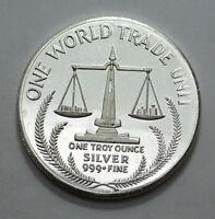 PROOF 1984 1 OZ .999 FINE SILVER ROUND ONE WORLD TRADE UNIT! Bullion !
