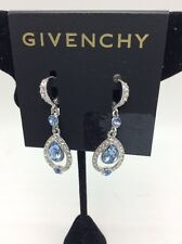 $52  GIVENCHY Open Pear-Cut Sapphire-like  and Crystal Drop Earrings 13 GE