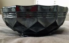Crown Crystal Sydney Bowl Heavy Diamonds 1920's