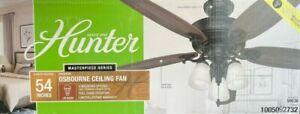 Hunter Osbourne 54 in. LED Indoor Noble Bronze Ceiling Fan with Light Kit