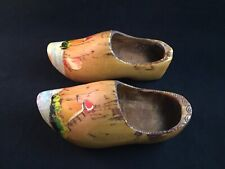 Vintage Decorative Wall Hanging Wooden Clogs Shoes Made in Holland
