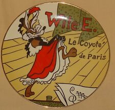 1991 WILE E.COYOTE LOONEY TUNES EXCLUSIVE WARNER BROTHERS STUDIO STORE PLATE