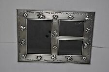 Home Trends Heirloom Baby Photo Frame (1) 4x6 (2) 2x3 Pewter