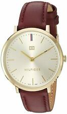 Tommy Hilfiger Women's Quartz Gold-Tone and Leather Watch 1781692